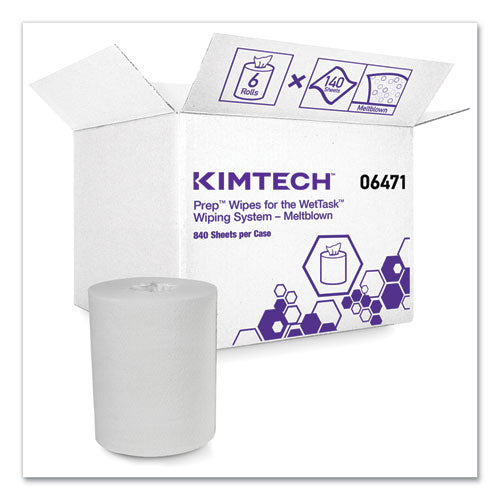 Wipers For The Wettask System, Quat Disinfectants And Sanitizers, 6 X 12, 840-roll, 6 Rolls And 1 Bucket-carton