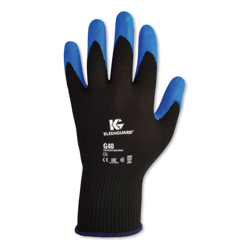 G40 Nitrile Coated Gloves, 240 Mm Length, Large-size 9, Blue, 12 Pairs