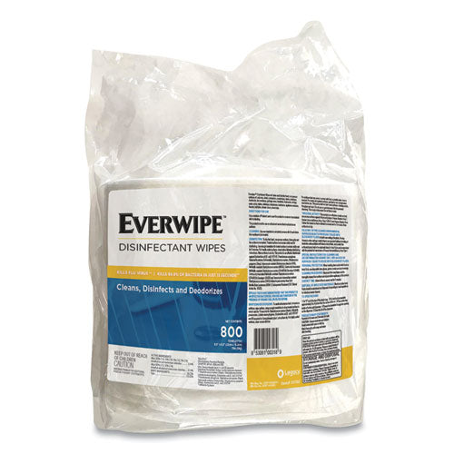 Everwipe Disinfectant Wipes, 6 X 8, 800-bag, 4 Bags-carton