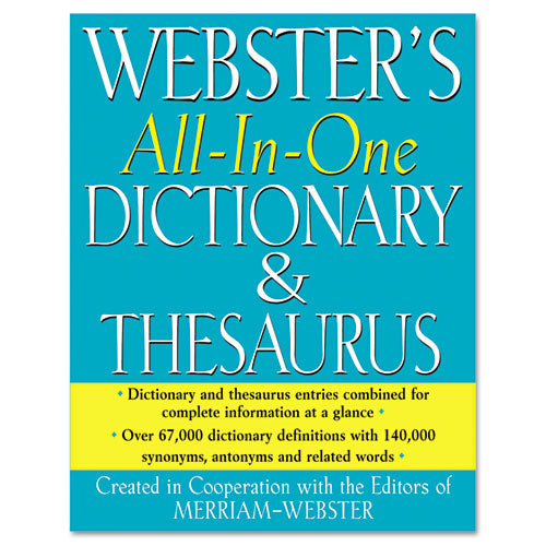 All-in-one Dictionary-thesaurus, Hardcover, 768 Pages