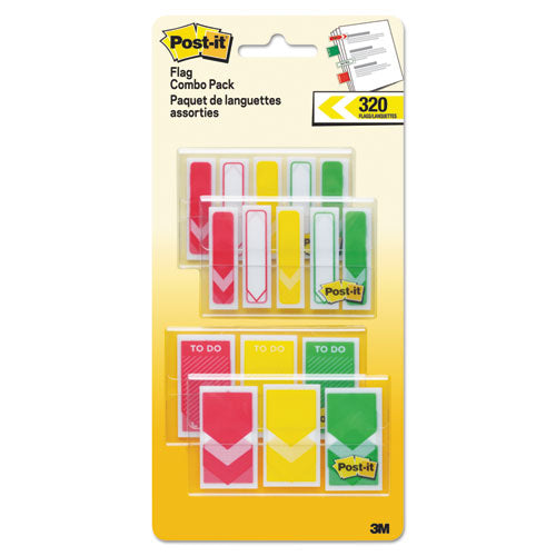 "1-2"" And 1"" Prioritization Page Flag Value Pack, Red-yellow-green, 320-pack"