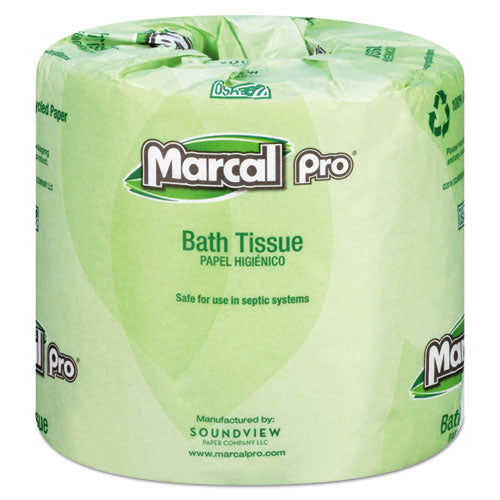 100% Recycled Bathroom Tissue, Septic Safe, 2-ply, White, 242 Sheets-roll, 48 Rolls-carton