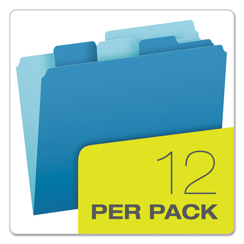 Divide It Up File Folders, 1-2-cut Tabs, Letter Size, Assorted, 12-pack