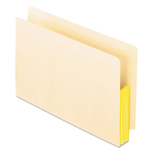 "Manila Drop Front Shelf File Pockets, 5.25"" Expansion, 10 Sections, Legal Size, Manila, 10-box"