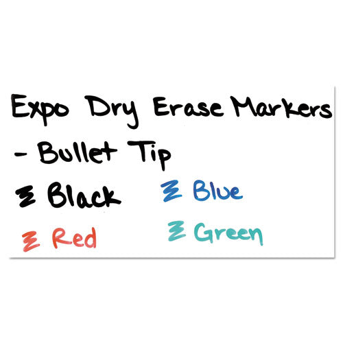 Low-odor Dry-erase Marker, Medium Bullet Tip, Blue, Dozen