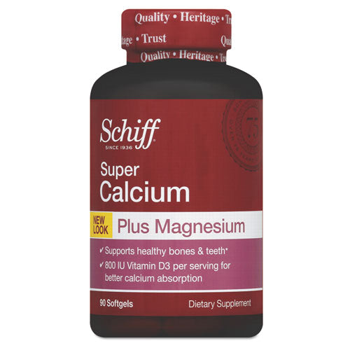 Super Calcium Plus Magnesium With Vitamin D Softgel, 90 Count