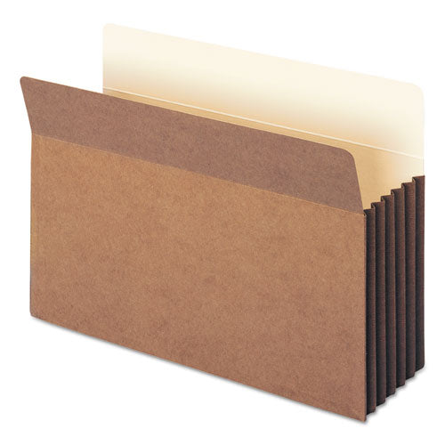 "Redrope Tuff Pocket Drop-front File Pockets W- Fully Lined Gussets, 5.25"" Expansion, Legal Size, Redrope, 10-box"