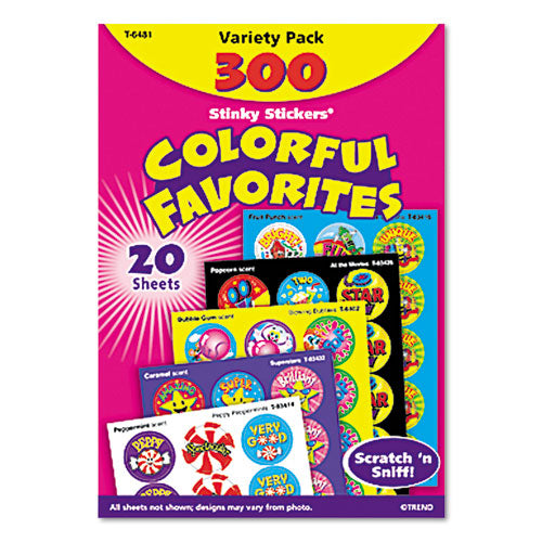 Stinky Stickers Variety Pack, Colorful Favorites, 300-pack