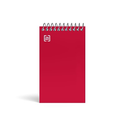 "TRU RED™ Memo Pads, 3"" x 5"", College Ruled, Assorted Colors, 75 Sheets/Pad, 5 Pads/Pack (TR11491)"