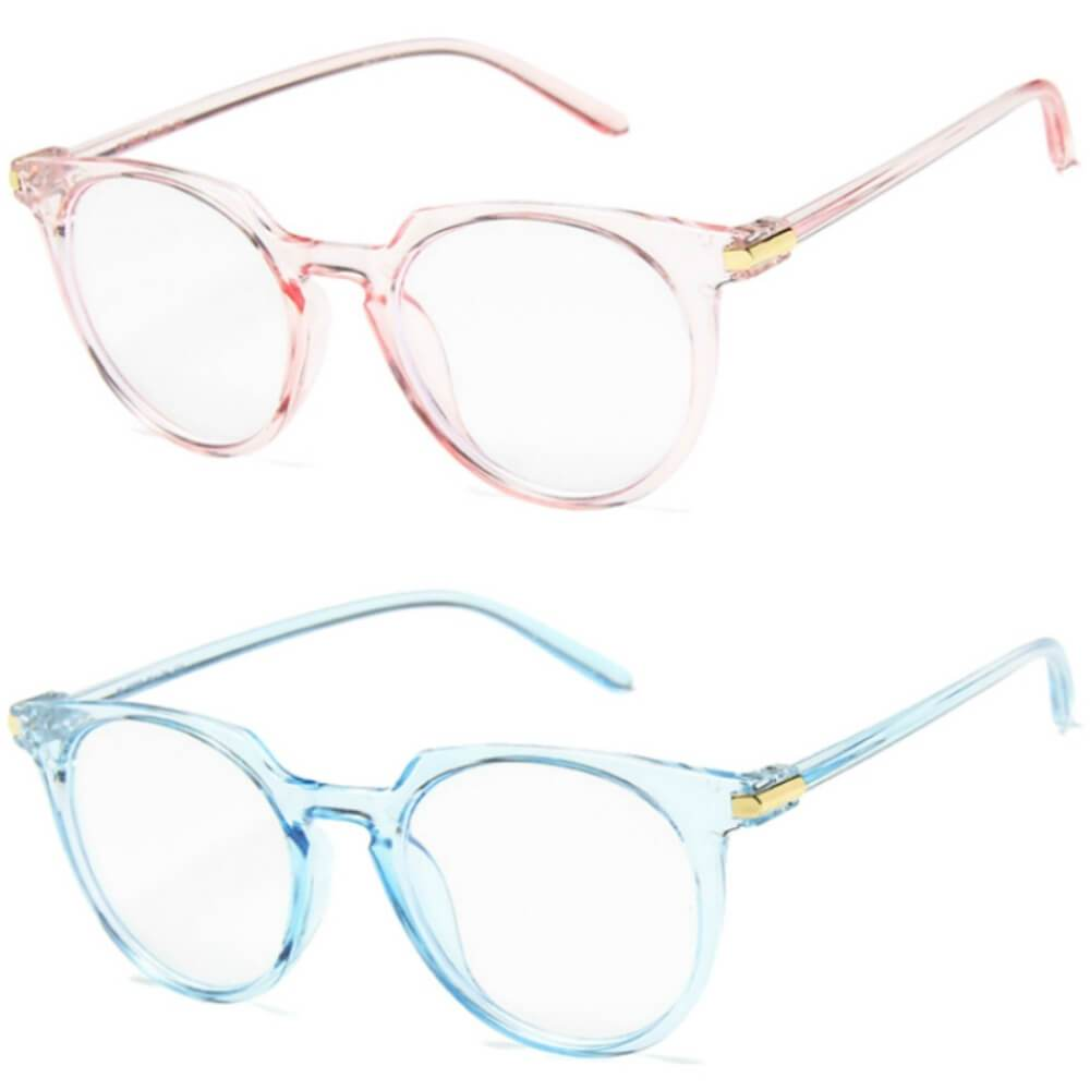 Blue Light Blocking Glasses - Molly (2 Pack) - Teddith Blue Light Glasses Computer Glasses Gaming Reading Glasses Anti Glare Reduce Eye Strain Screen Glasses
