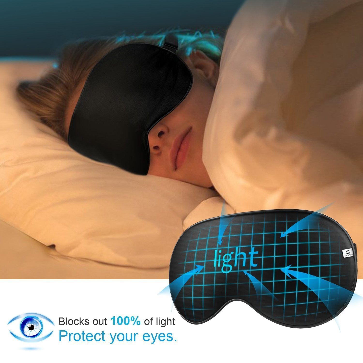 Sleep Mask Ultra Soft 100% Natural Silk - Teddith Blue Light Glasses Computer Glasses Gaming Reading Glasses Anti Glare Reduce Eye Strain Screen Glasses
