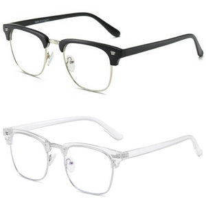 Blue Light Blocking Glasses - Clubmaster (2 Pack) - Teddith CA