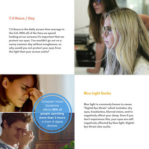 Blue Light Glasses for Computer Reading Gaming - Bella - Teddith CA