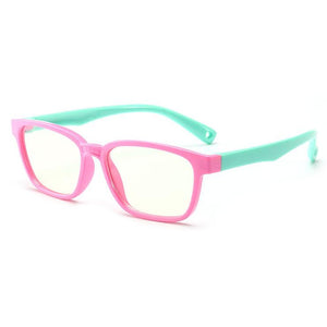 Blue Light Blocking Computer Screen Reading Glasses for Kids Ages [3-9] - Malik - Teddith CA