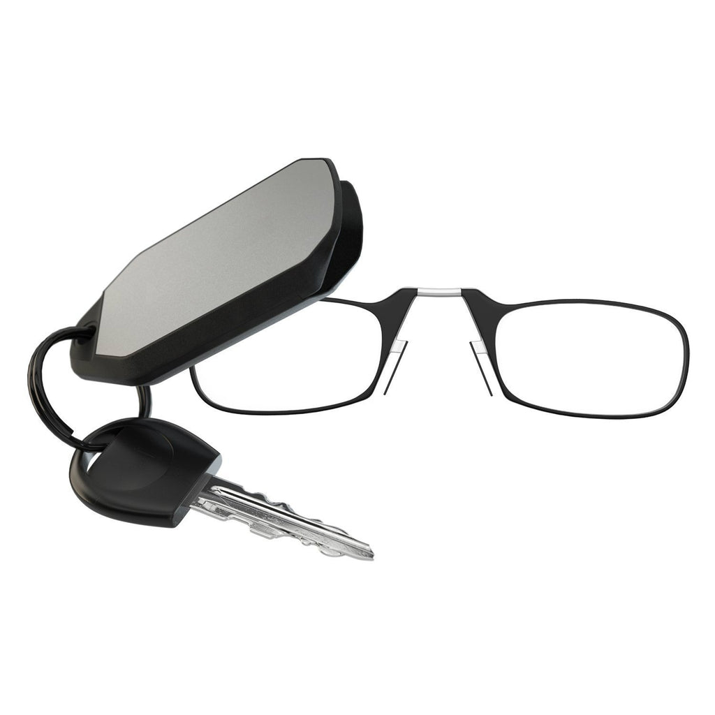 Keychain Reading Glasses - Black - Teddith Blue Light Glasses Computer Glasses Gaming Reading Glasses Anti Glare Reduce Eye Strain Screen Glasses