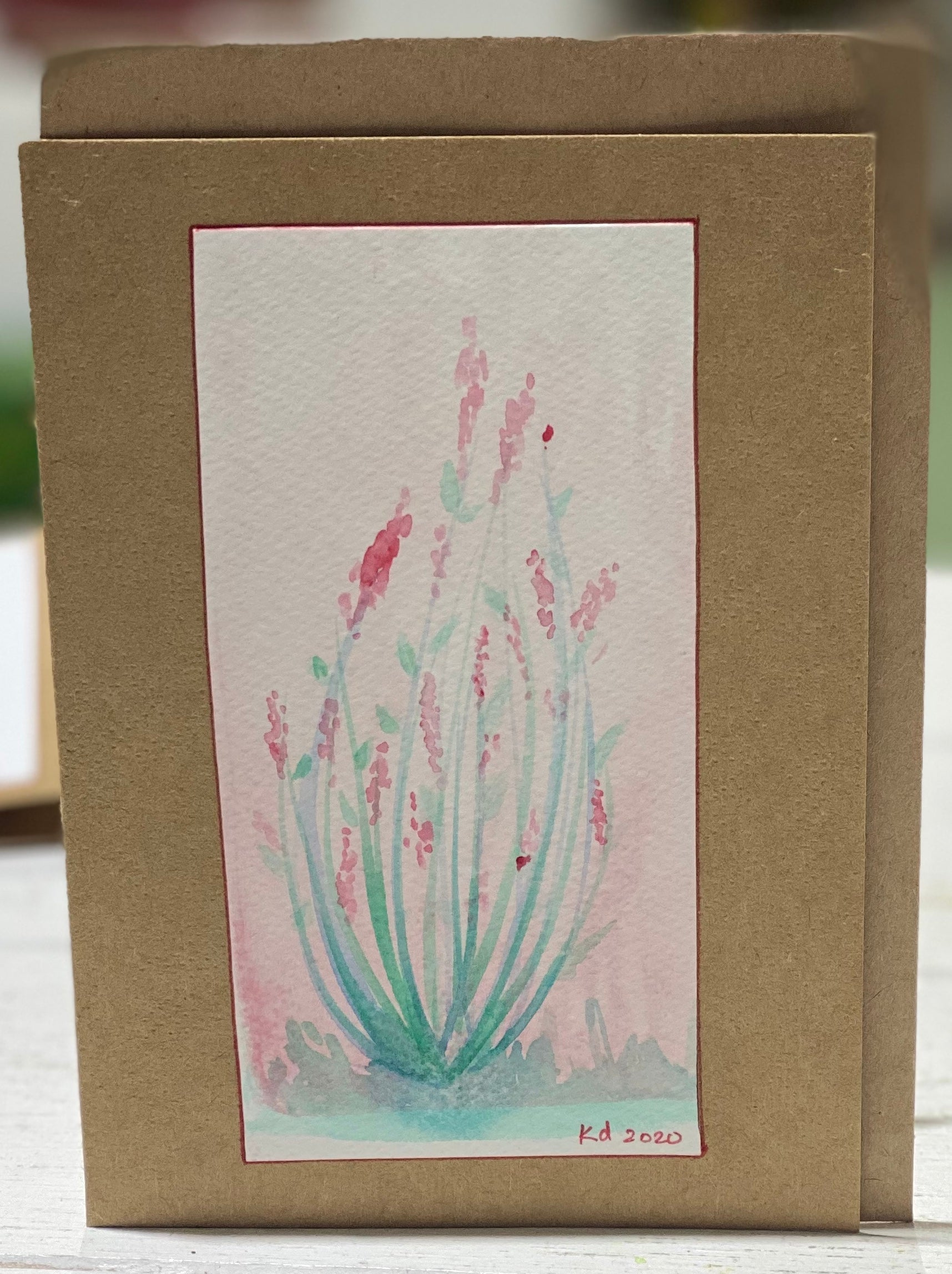 Grass Water Colours  - Christmas Cards