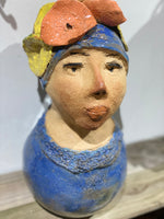 Ms.Bronzee - Handmade Pottery Girl by Monica Smith