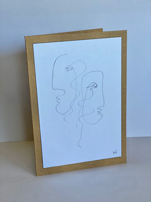 One line Drawing Pair
