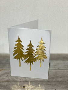 White 3 Pine Tress - Christmas Cards SKU: CH_WP1