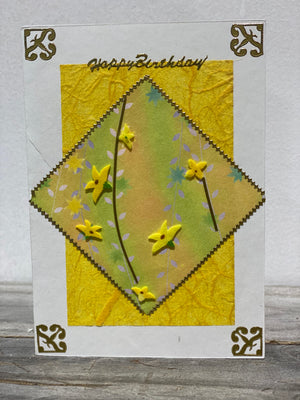 Happy Birthday Yellow card by Margaret SKU: MC_HB2