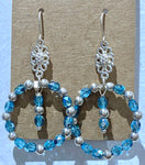 Glass beads Blue Earrings SKU: MS_139E