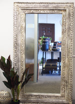 Wooden Carved Reclaimed Large Mirror  SKU:8375