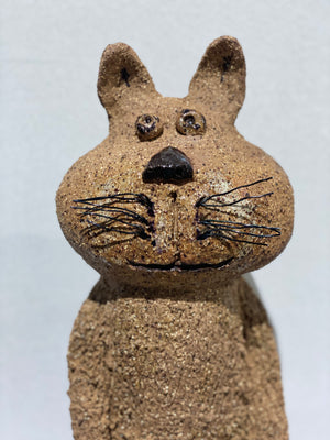 Mr.Toby - Handmade Pottery Girl by Monica Smith