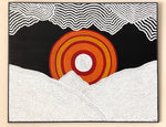 Indigenous Canvas Art by Timothy Yule - Ash Land, Burning Sun