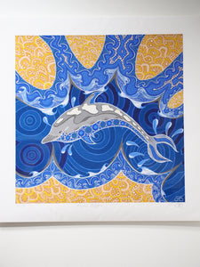 Aboriginal Art Prints: Playful Dolphin by Brenden Broadbent