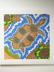 BB_TT_14 Aboriginal Art Prints: Turtle Top by Brenden Broadbent
