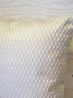 Ivory diamond self pattern Cushion  SKU:ID_CH