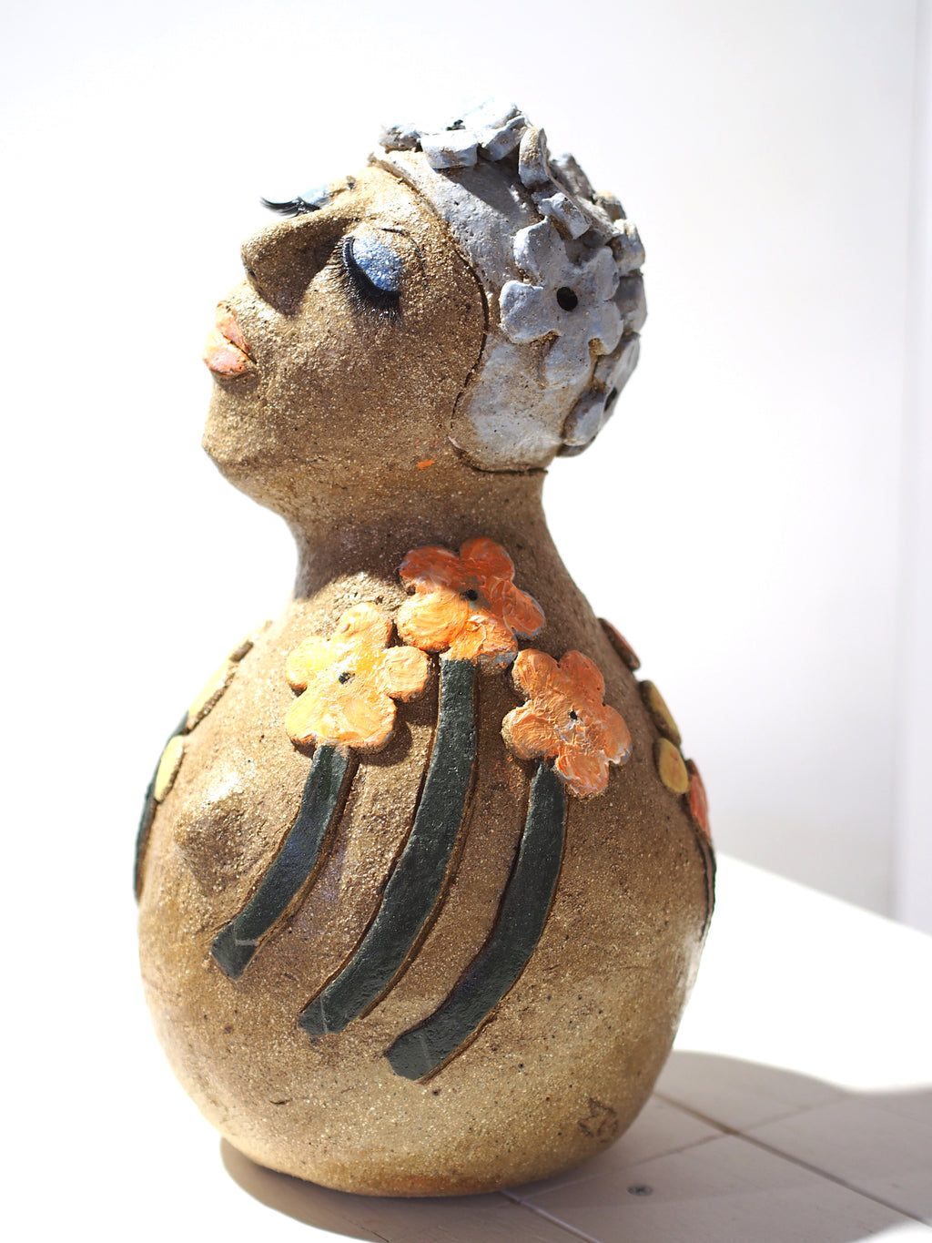 Ms.Deva - Handmade Pottery Girl by Monica Smith