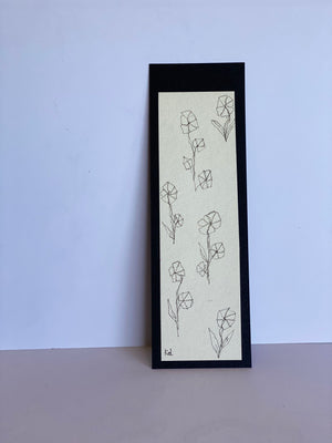 Floral One line Bookmark