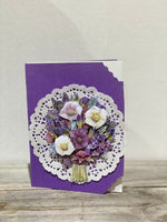 Purple Bunch of Flowers 3D cards by Margaret SKU: MC_F5