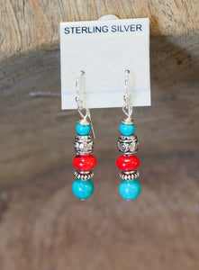 Tibetan Silver + Natural Turquoise Coral Jewellery