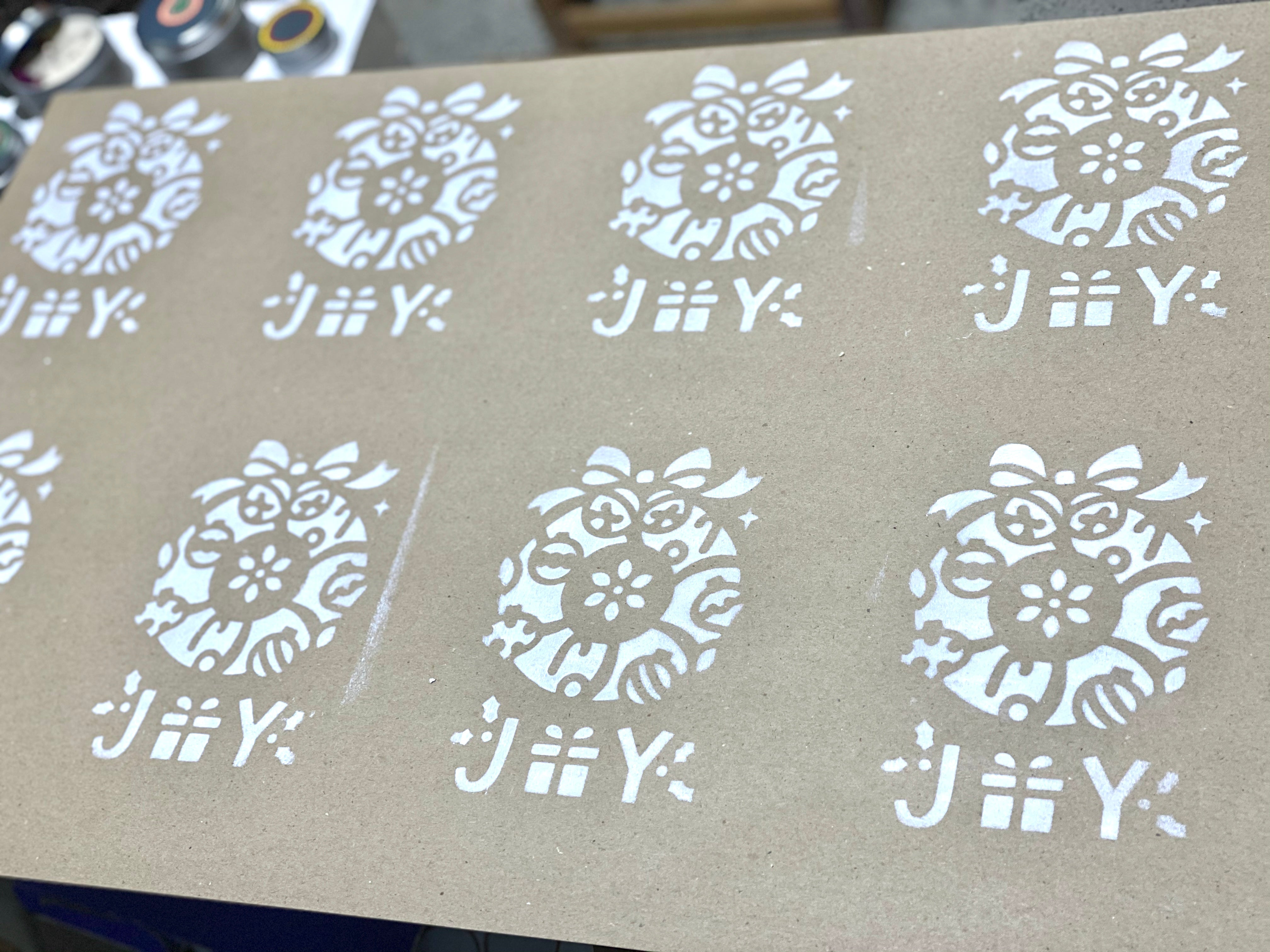 Joy Brown Wrapping Paper SKU:WC_Jy