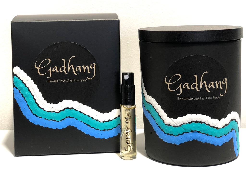 Gadhang - Soy Wax Candle - Handpainted Aboriginal Art - Wave1