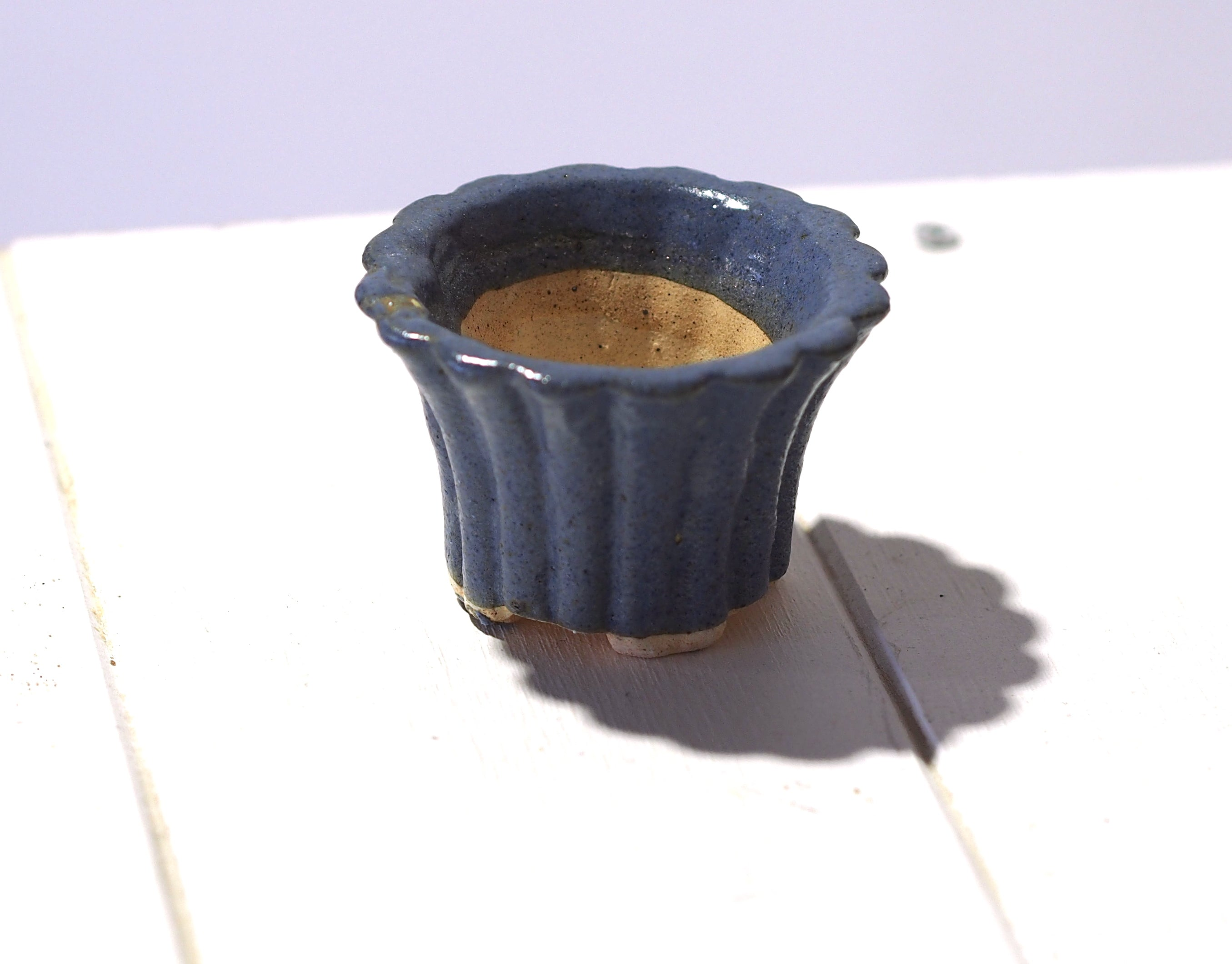 Handmade Mini Planters - Blue Tub + Vase Assorted