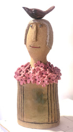 Ms.Surpised - Handmade Pottery Girl by Monica Smith