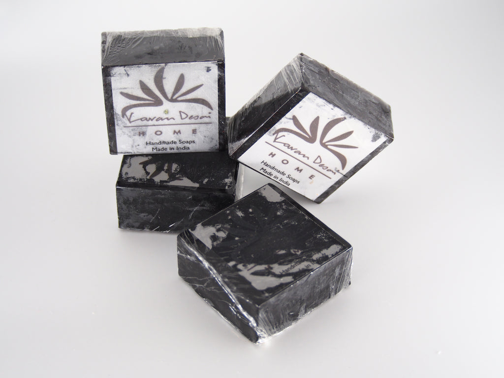 Activated Charcoal Neem + Basil Handmade Soap