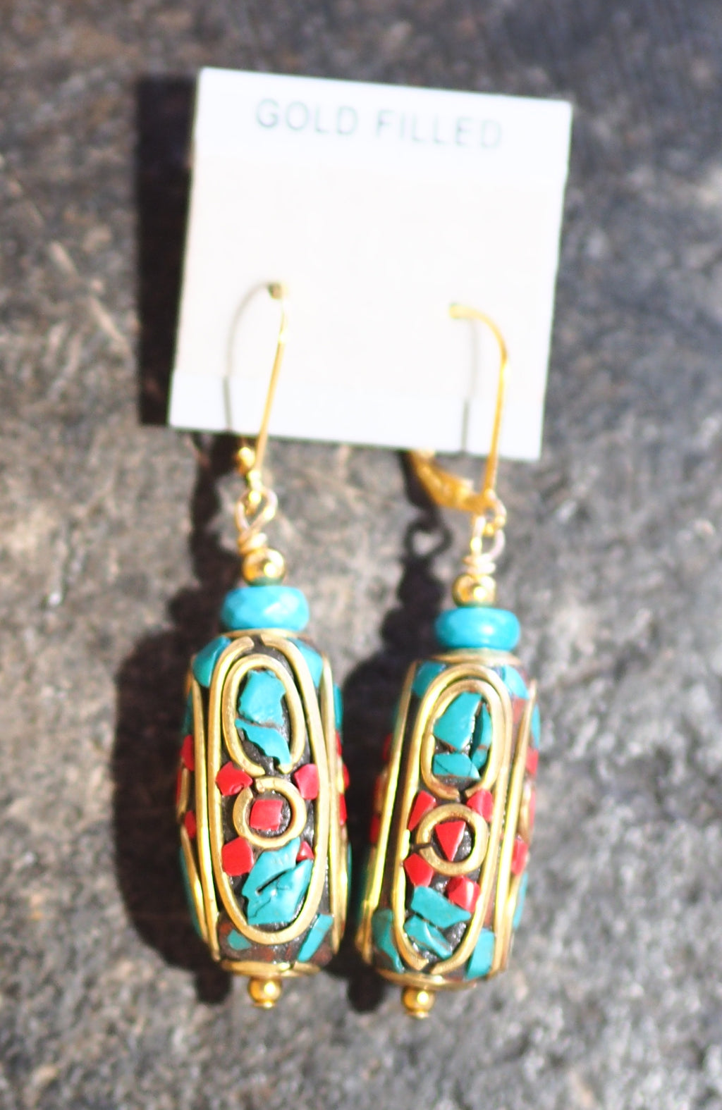 Tibetan Bead Earrings - 62E