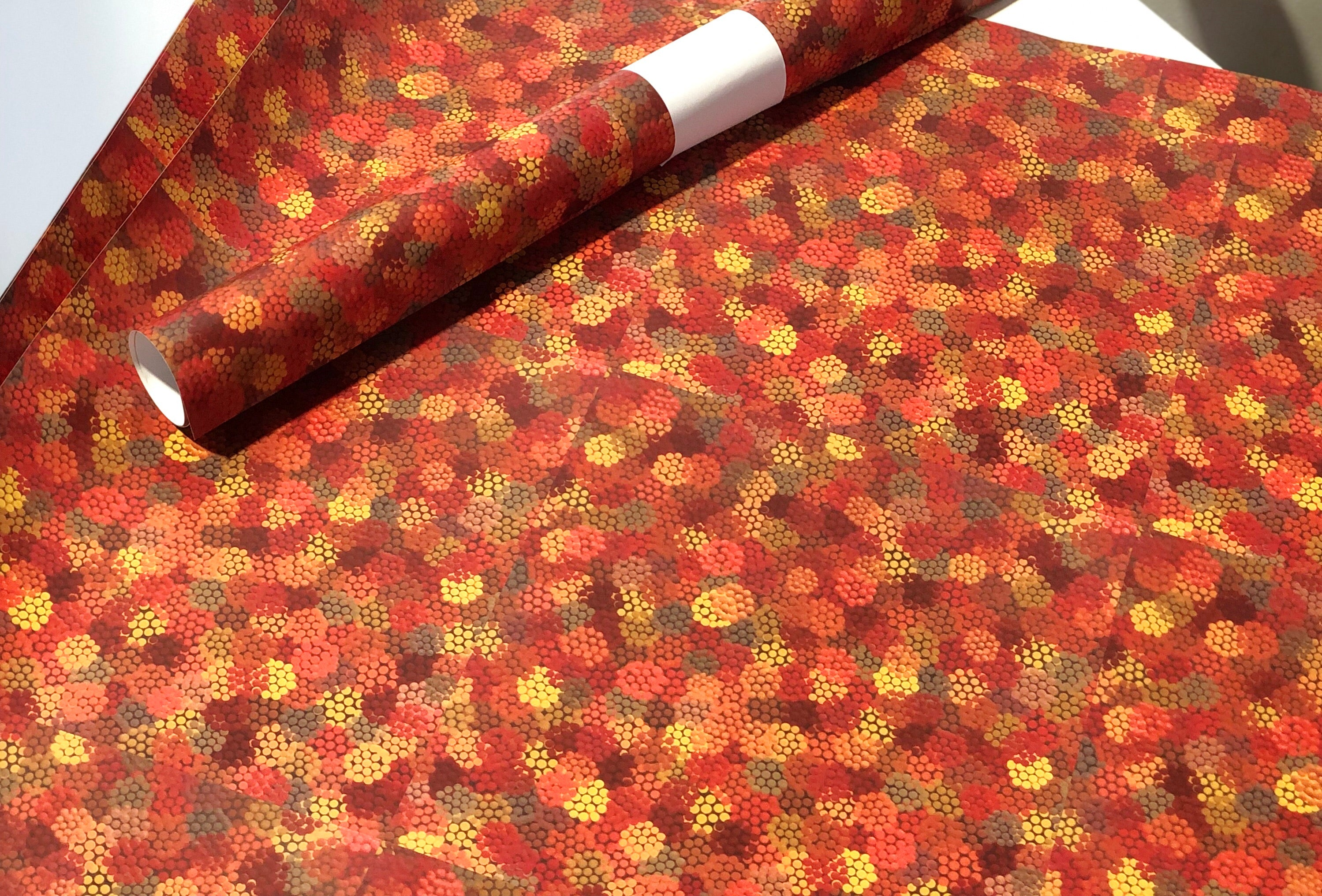 Autumn Indigenous Art Print Wrapping Paper
