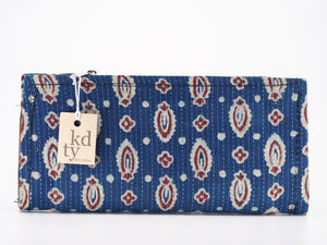 Cotton Block Print purse - Blue SKU:BP_C_B