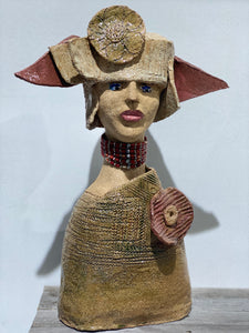 Ms.Posh - Handmade Pottery Girl by Monica Smith