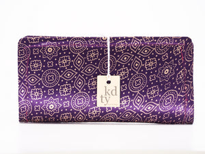 Block Print Cotton Silk Purple SKU:BP_CS_Pr