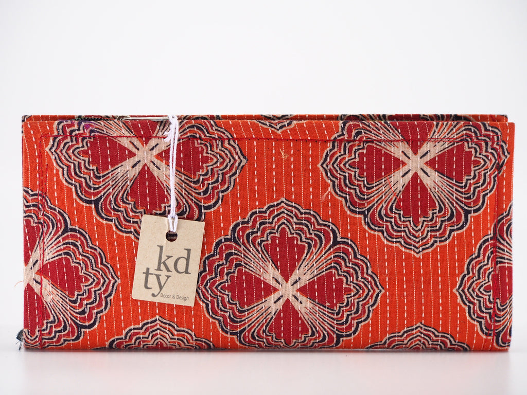 Cotton Block Print purse - Orange SKU:BP_C_O