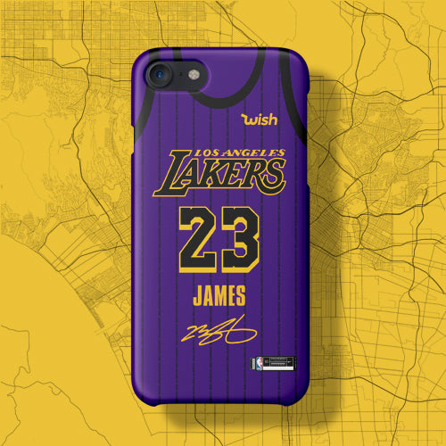 a0783b1dd1a Los Angeles Lakers City Edition Jersey Phone Case – sportcaseplug
