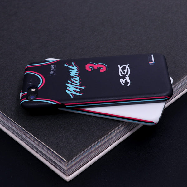852597fe9c9 ... Miami Heat City Edition Jersey iPhone Case -  3 Dwayne Wade ...
