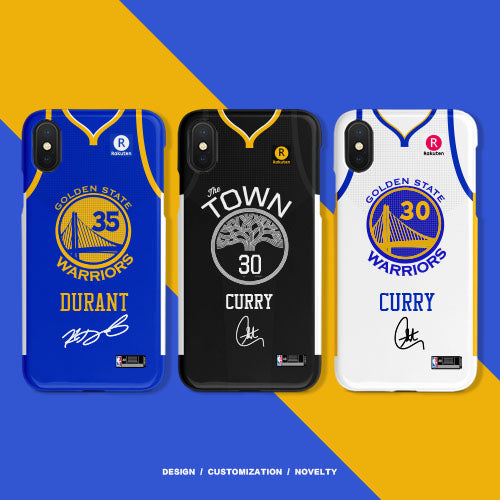 separation shoes 93b93 77db0 Golden State Warriors White/Blue/Black Jersey Phone Case