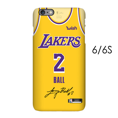 new products 5faa4 fcf1e Los Angeles Lakers Retro Yellow Jersey Phone Case